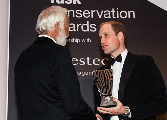 Prince William handed a lifetime achievement accolade to Garth Owen-Smith for his successful community-driven initiatives in Namibia